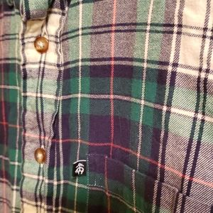 Brooks Brothers green flannel plaid shirt